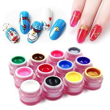 d51ac2ead Amazon.com   12 Colors Nail Painting Gel Polish