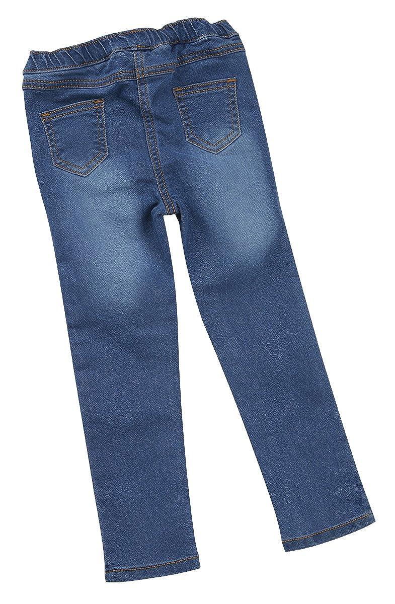 Minikidz Infant Girls Childs Leggings Jeggings Pants Trousers Denim Style Faded