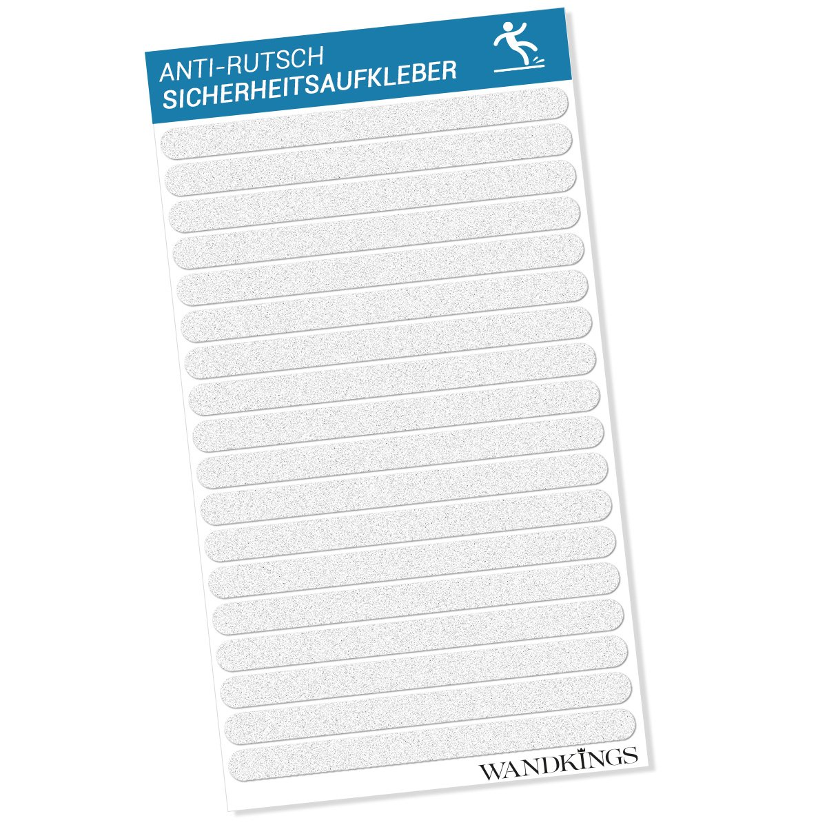 Adesivi anti-scivolo - 18 strisce di adesione da 20 x 1, 5 cm per la sicurezza nella vasca da bagno e nella doccia Wandkings.de