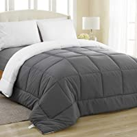Equinox All-Season White Quilted Comforter - Goose Down Alternative Queen Comforter - Duvet Insert Set - Machine Washable - Hypoallergenic - Plush Microfiber Fill (350 GSM)