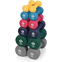 Gallant Neoprene Hand Dumbbells Weights Fitness Home Gym Exercise Barbell 1Kg, 2Kg, 3Kg, 5Kg, 8Kg and 10Kg Pairs Light Heavy For Ladies Mens Dumbbells