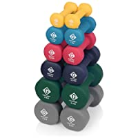 Gallant Neoprene Hand Dumbbells Weights Fitness Home Gym Exercise Barbell 1Kg, 2Kg, 3Kg, 5Kg, 8Kg and 10Kg Pairs Light Heavy For Ladies Mens Dumbbells