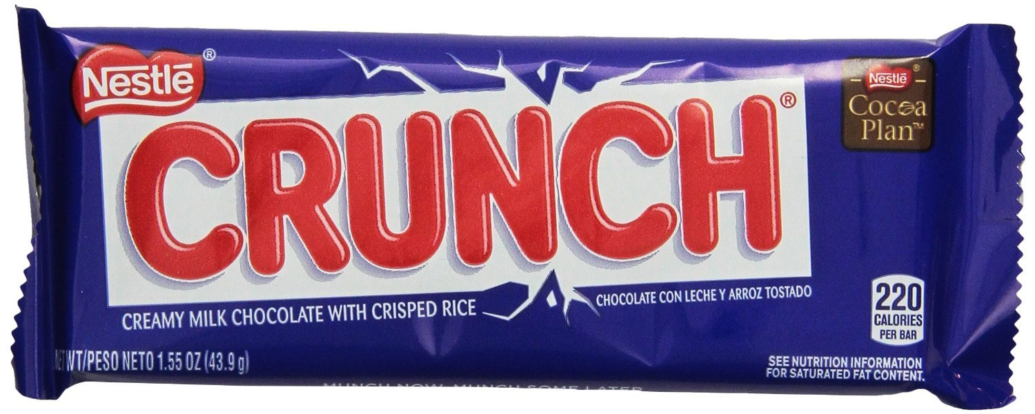 Amazon.com : Nestle Crunch Bar Chocolate Bar, 36-Count : Candy And ...