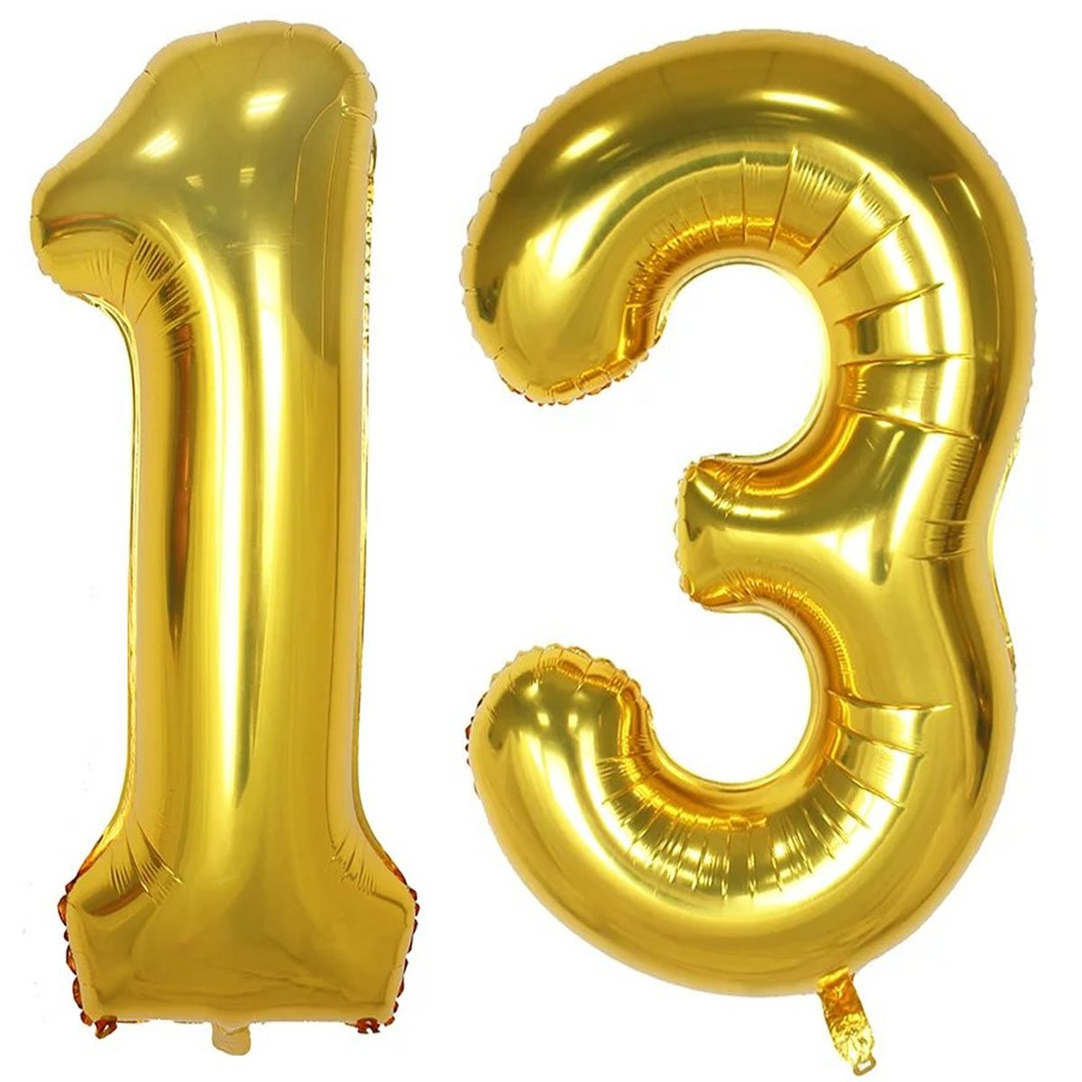 40inch Gold Foil 13 Helium Jumbo Digital Number Balloons 13th Birthday Decoration For Girls Or Boys Sweet Party Supplies