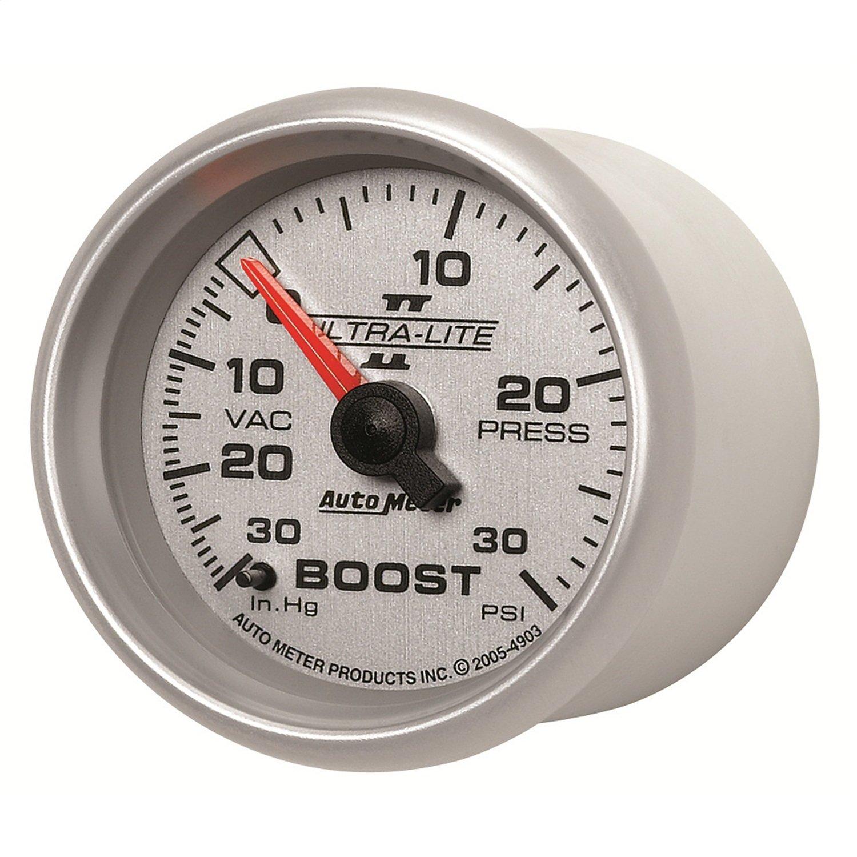 Auto Meter 4903 Ultra-Lite II 2-1/16' 30 in. Hg/30 PSI Mechanical Vacuum/Boost Gauge