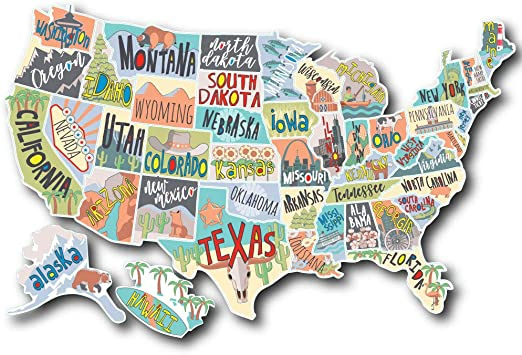 EverStrong Camper RV Decal Sticker For MotorHome Trailer RV Accessories 21 by 15 Camper Accessories Track the States You/'ve Traveled with our Camper Decal