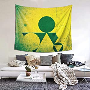 Geometry Pattern Wide Wall Dector Tapestry, Luxury Wall Hanging Tapestry for Bedroom Living Room 60 X 51 Inch