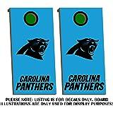 Amazon Com Carolina Panthers Cornhole Board Decals Bright Blue