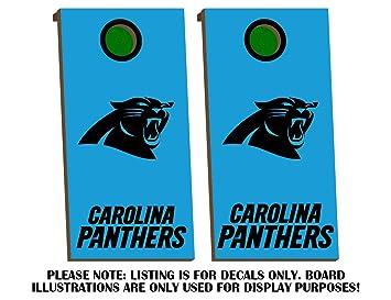 Amazon Com Carolina Panthers Cornhole Board Decals Black Fit