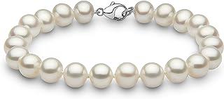 Kimura Perles Donna  9cts (375)  Oro bianco Ronde   bianco Perla FINENECKLACEBRACELETANKLET