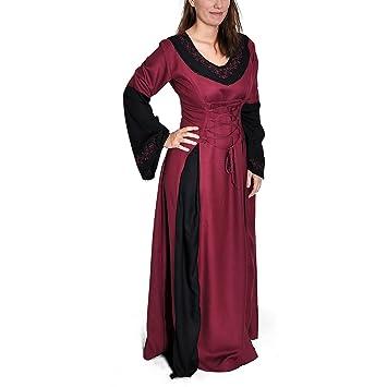 Kleid bordeaux lang