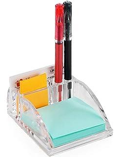 Hanging File Organizer and 2 Letter Trays York TXSJT-4 Stick Note Holder Superbpag Wire Metal 4 in 1 Desk Organizer Set
