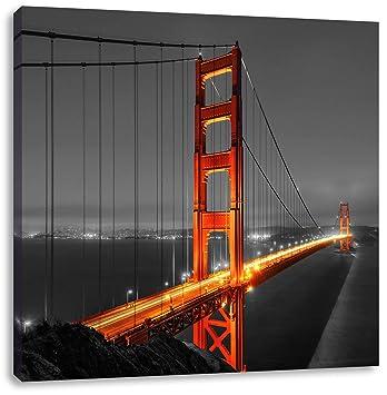 riesige Golden Gate Bridge schwarz//weiß Leinwandbild Wanddeko Kunstdruck