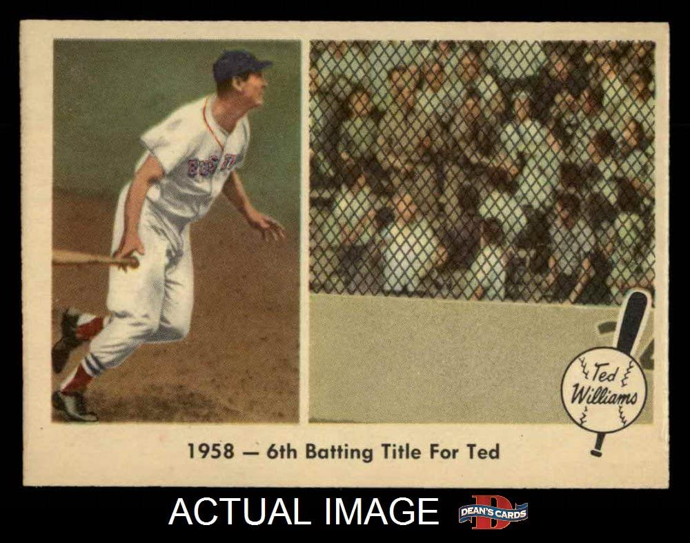 1959 Fleer # 62 6th Batting Title Ted Williams Boston Red Sox (Baseball Card) Dean's Cards 6 - EX/MT Red Sox
