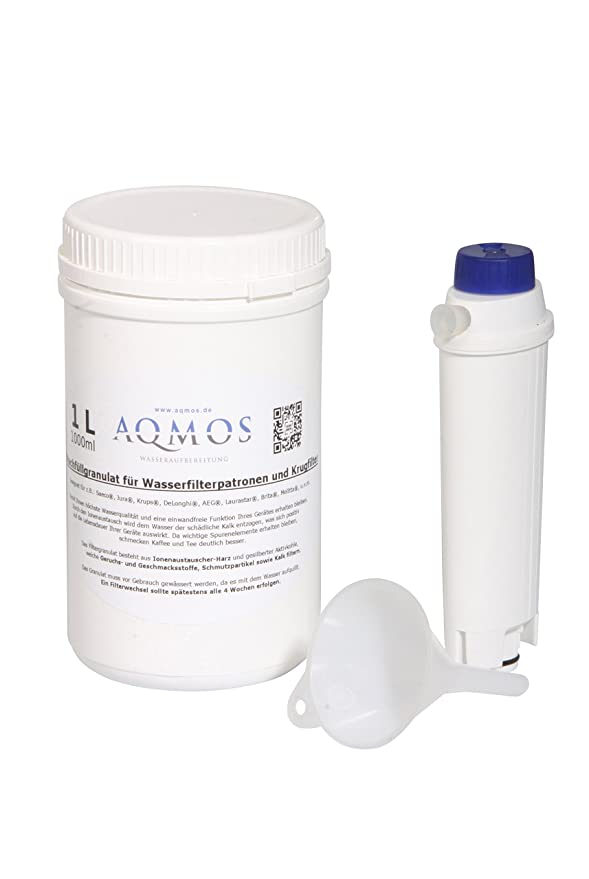 Filtergranulat AQTE1000 für DeLonghi DLSC002 Wasserfilter 1 L Nachfüllgranulat