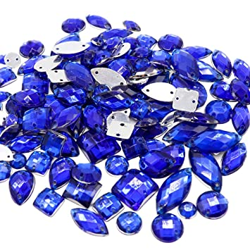 Clear Sew On Rhinestones Flat Back Mixed Shapes Crystal Glass Stones for Clothes