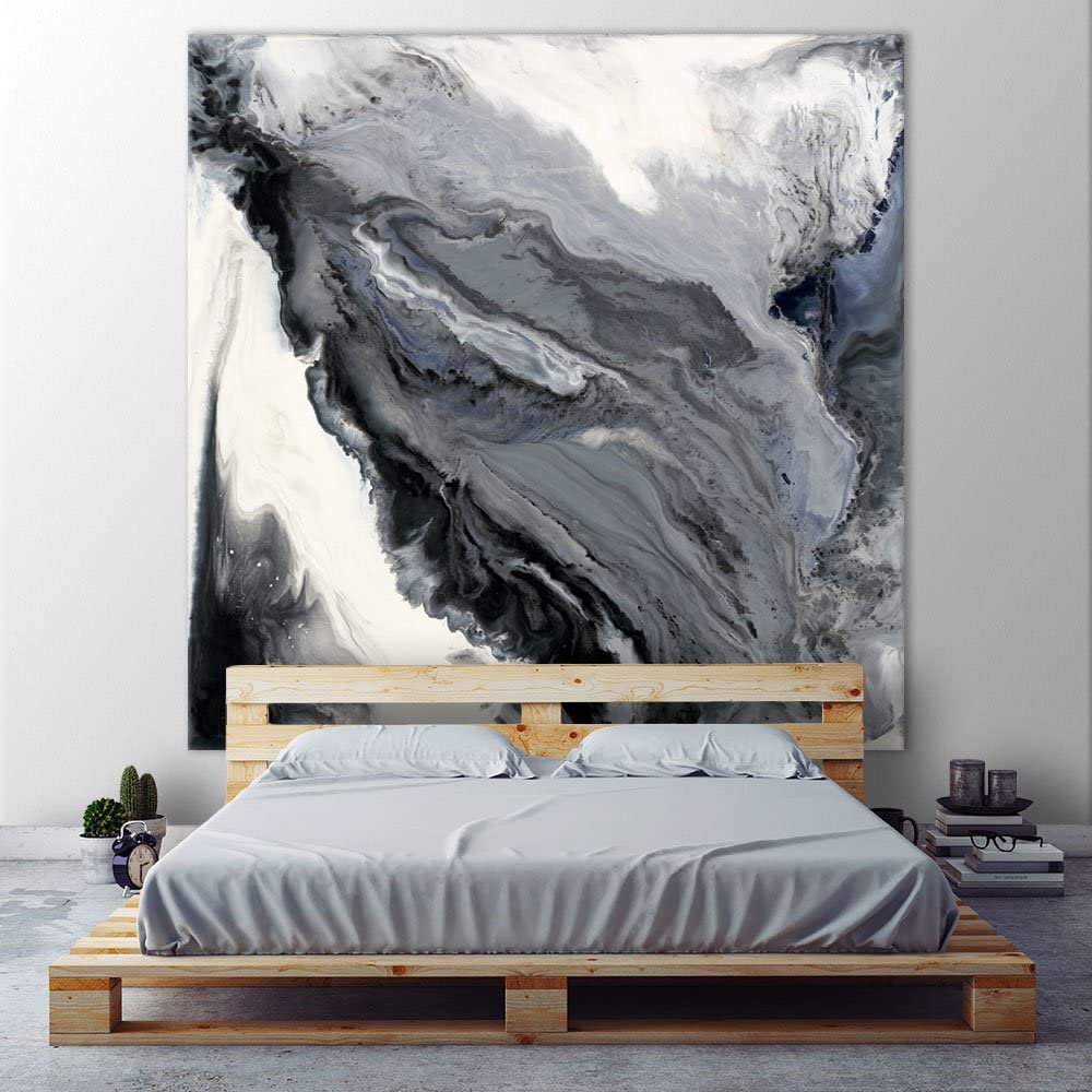Giant Art Approaching Huge Contemporary Abstract Giclee Canvas Print for Office Home Wall Decor Stretcher, 72 x 72