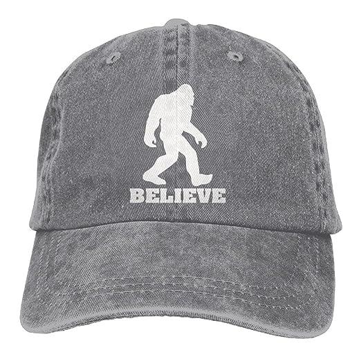 I Believe Bigfoot Unisex Fashion Denim Bucket Hat Baseball Popular Snapback  Caps Cool Adjustable Dad Cap 4ad0b0866c4