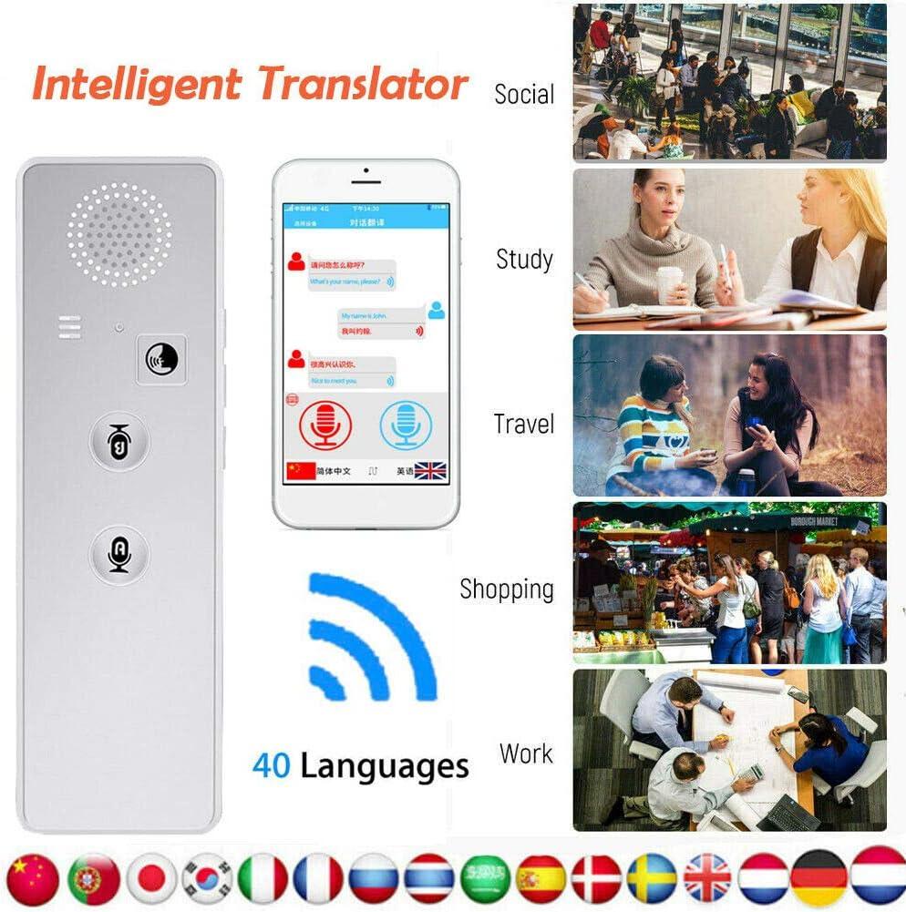 /Übersetzer-Ger/ät Smart Voice Translator mit 5,43 x 1,69 x 0,67 Zoll Zwei-Wege-/Übersetzung f/ür Reisen Lernen Gesch/äftseinkaufstreffen MENGZHEN Smart Language Translator-Ger/ät