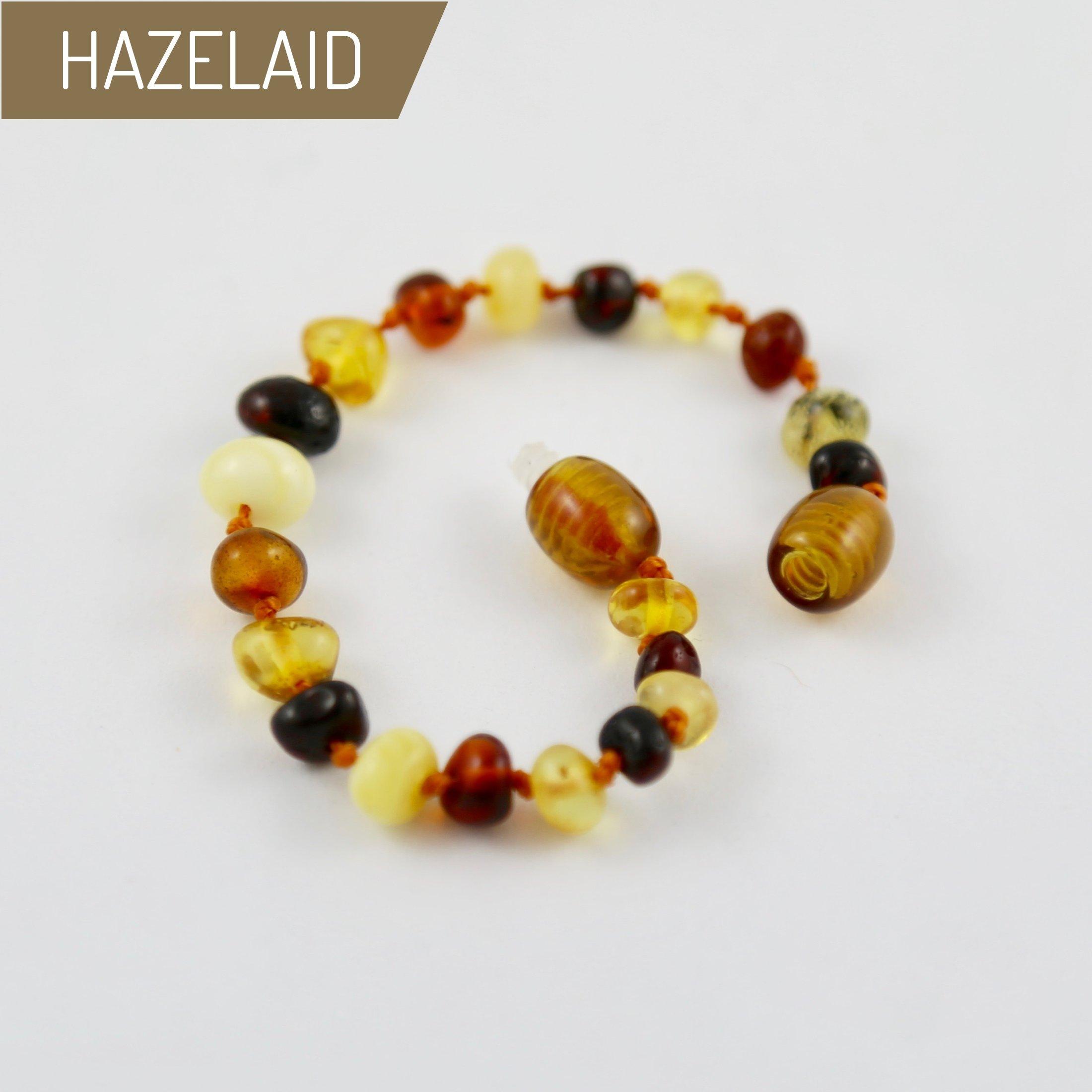 Hazelaid (TM) 5.5'' Baltic Amber Multicolored Round Bracelet