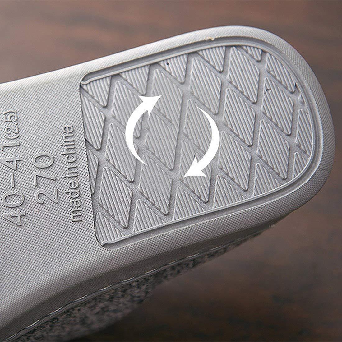 Zapatillas de Interior Suaves Modernas Pantuflas Antideslizantes para Hombre//Mujer YUENA CARE Zapatillas de Estar por Casa Invierno C/álido