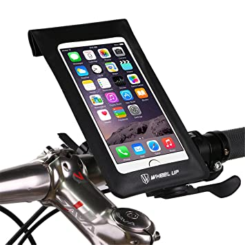 0c93a084627 wheelup Waterproof Tube Frame Bag Bike Bag MTB Mountain Cycle Touch Screen  Phone Bags Reflective Handlebar Cycling Pouch Panniers with 6 Inch Touch  Screen