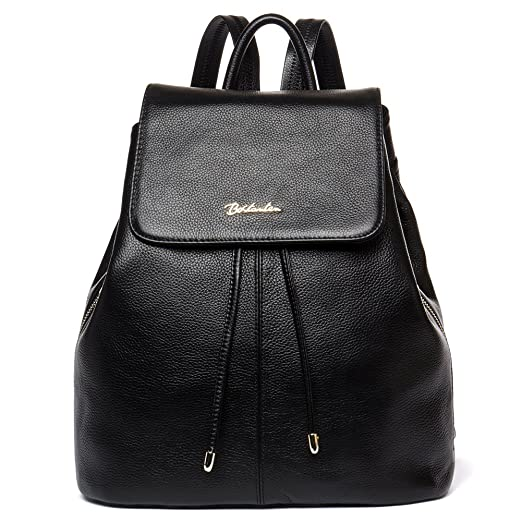 7b5a3cdb208 BOSTANTEN Women Leather Backpack Purses College Casual Daypack Handbags