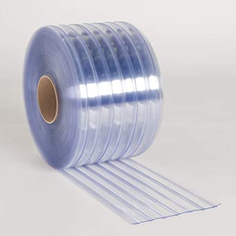 Amazon Com Pvc Vinyl Strip Curtain Door Bulk Roll 12 X 216 Clear Scratch Guard Ribbed Pvc Material 75 Roll Industrial Scientific