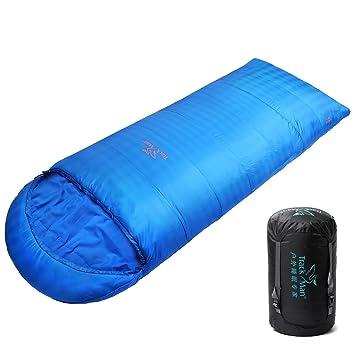 Track Man Saco de dormir de sobre, abrigado, con capucha ajustable con cordones,