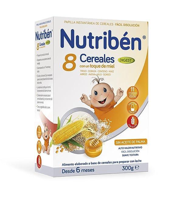 Nutribén Papilla 8 Cereales Miel Galletas Maria - 300 gr