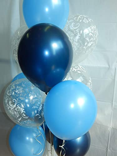 Amazon Com Blue Balloons Light Blue Balloon Clear Damask Pretty