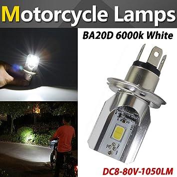 TABEN Bombilla LED para faros delanteros de motocicleta H4 H/L de luz doble alta