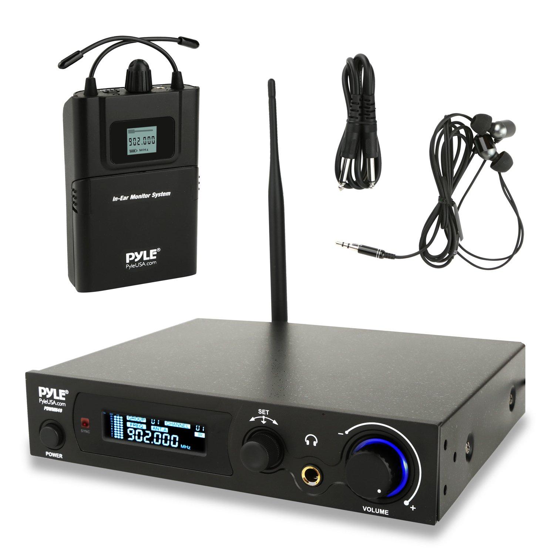Pyleオーディオin ear monitor andレシーバーシステム、100 pre-set選択可能オーディオ周波数UHFワイヤレスモニターシステム、2コンボXLRオーディオ入力ジャック+ 1 / 4インチ。( pdwmn49 )B01M8I9ITZ