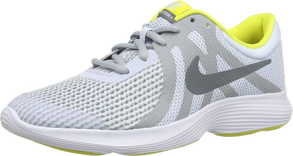 outlet store 00132 d2576 Nike Jungen Revolution 4 (GS) Laufschuhe Mehrfarbig (Football Cool Wolf  Grey 011)