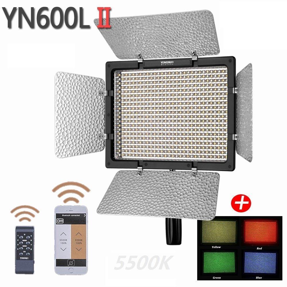 YONGNUO YN600L II LEDカメラライト 600球LED 5500K単色 補助カメラ 補助照明 AC電源アダプター付き   B013OU3HU2