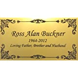 Personalized Engraved Plate, Gold Name Plate with Black, Plaque, custom engraving