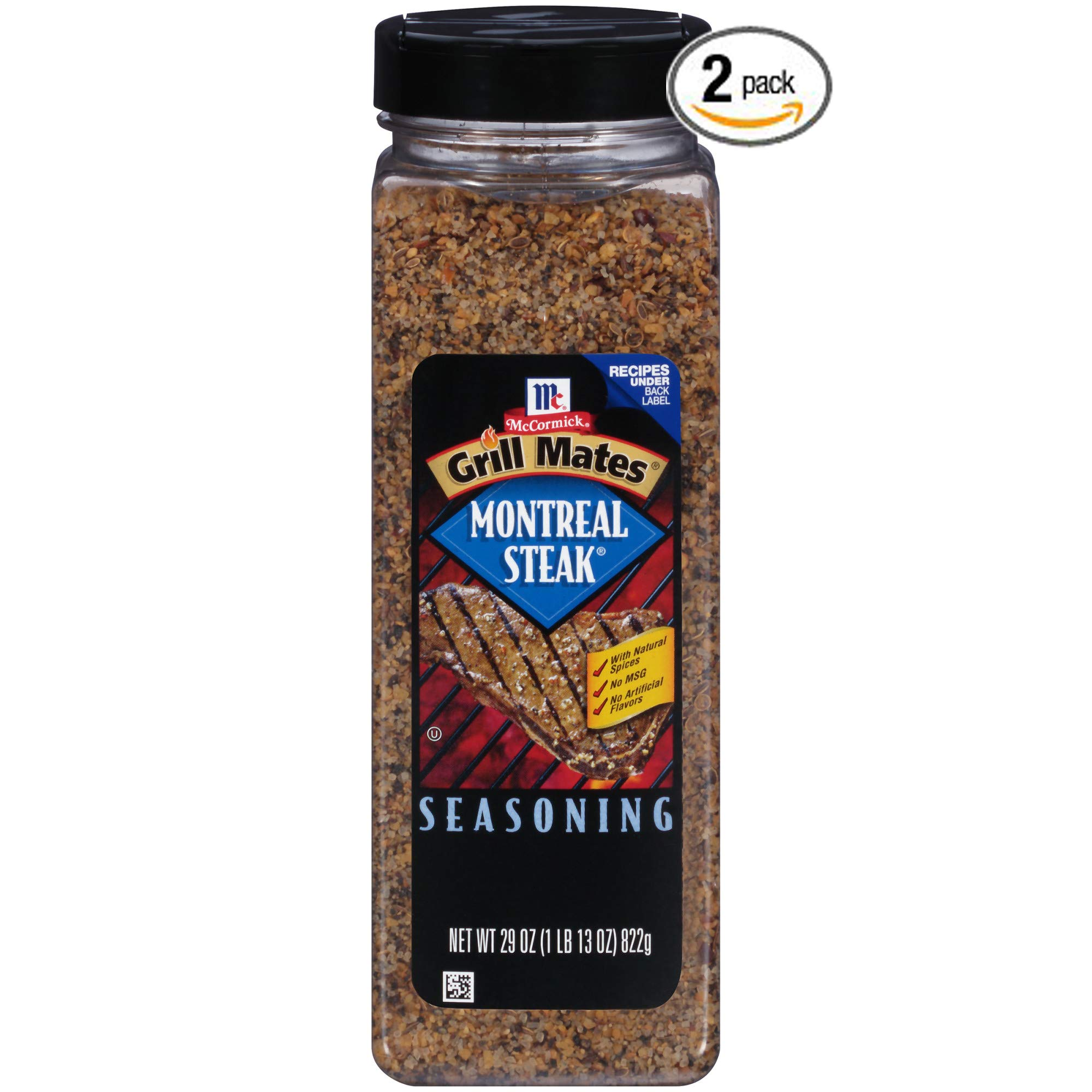 McCormick Grill Mates Montreal Steak Seasoning, 29 oz. - Pack of 2