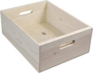 Western Pine Boxes with hand holes, 16x12x6 Inches Outside Dimensions (Qty.2)