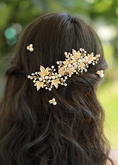 Amazon missgrace crystal bridal hair pins wedding hair missgrace crystal bridal hair pins wedding hair accessories rhinestone jewelry headdresspack of 2 junglespirit Image collections