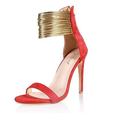 fde9216bcb9 JSUN7 Women's Fashion Stiletto High Heel Sandal Pump Shoe