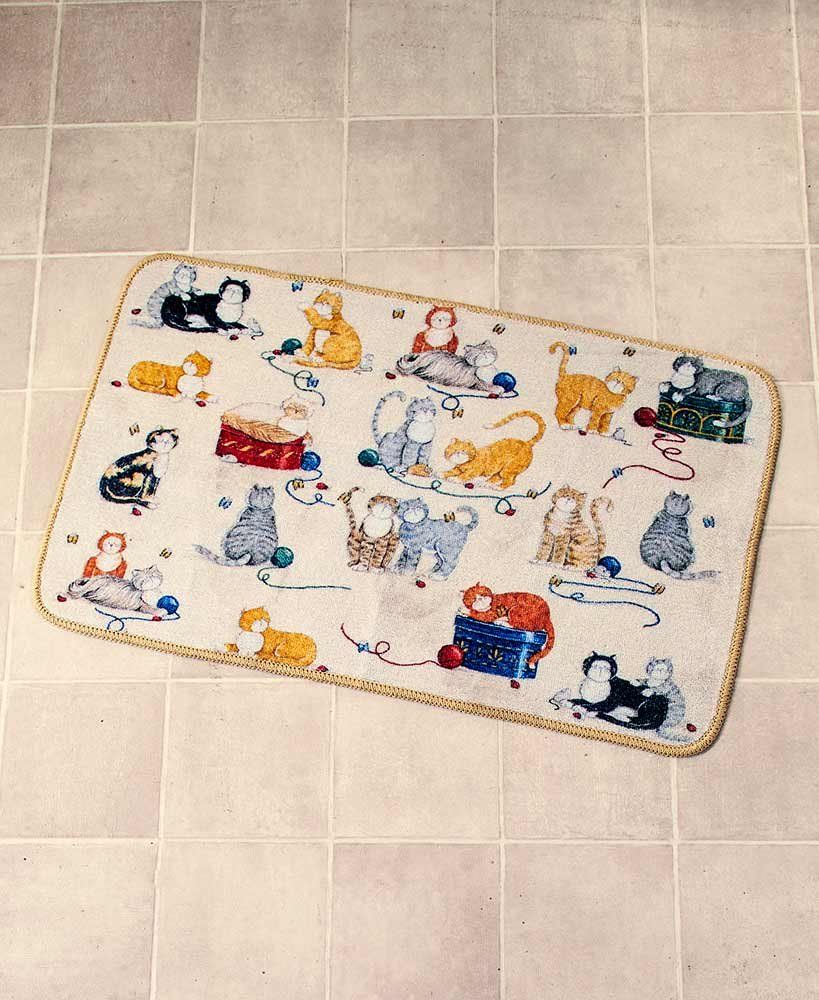hot sale 2017 The Lakeside Collection Playful Cat Bath Rug