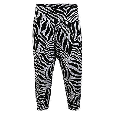 2f83a1b687 Candid Styles Mujer Estampado 3 4 Alí Babá Harén Pantalones Anchos  Pantalones Mallas Cortadas 8