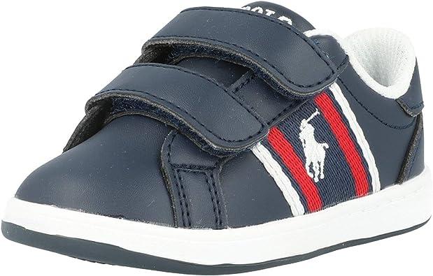 Polo Ralph Lauren Oaklynn EZ Azul/Rojo (Navy/Red) Smooth Infantil ...