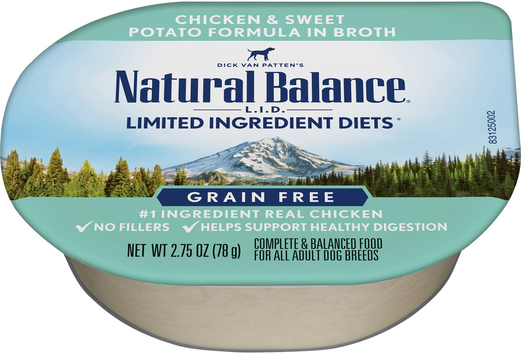 Natural Balance Limited Ingredient Diets Wet Dog Food, Chicken And Sweet Potato Formula In Broth, 2.75-Ounce Cups (Pack Of 24) by Natural Balance