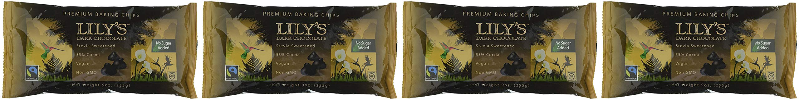 Lily's Chocolate All Natural Premium Baking Chips, Dark Chocolate, 4 Count - 4-Pack by Lily's Chocolate (Image #3)