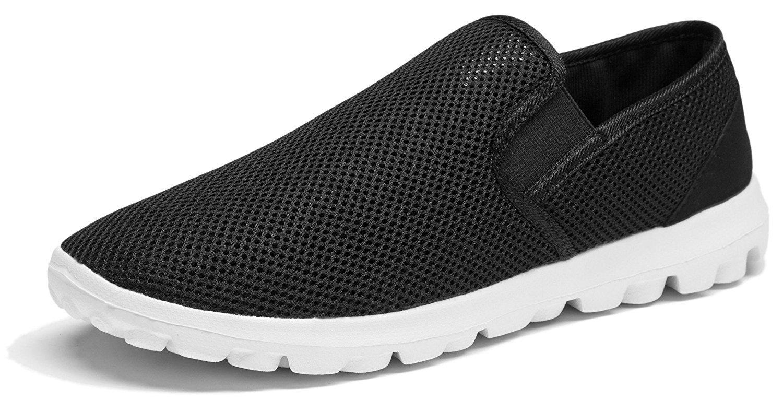 Vibdiv--Men's Lightweight Breathable Anti-Slip Casual Shoes(EU 45 US 11 Men,Black)