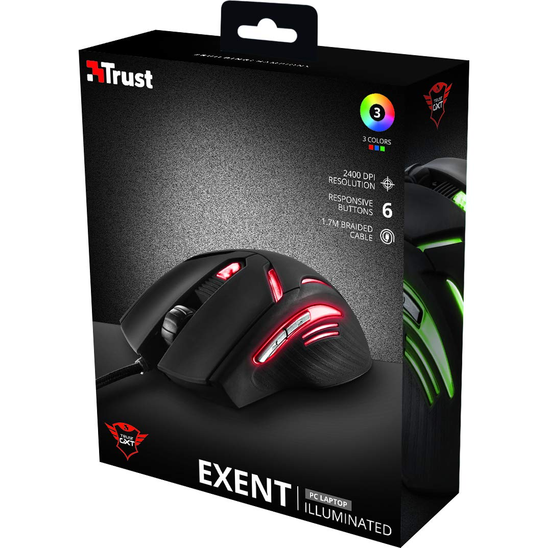 Amazon.com: Trust GXT 152 Exent Illuminated Gaming Mouse: Computers & Accessories