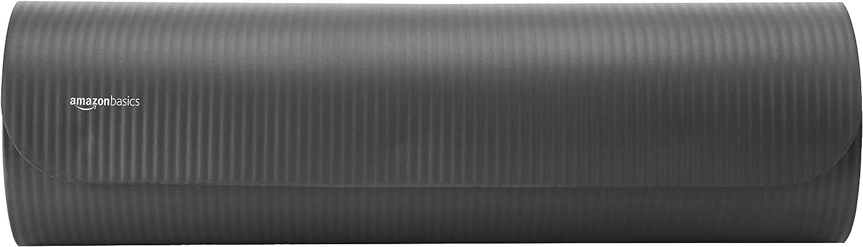 Basics 1//2-Inch Thick Yoga Mat 6 Piece Set