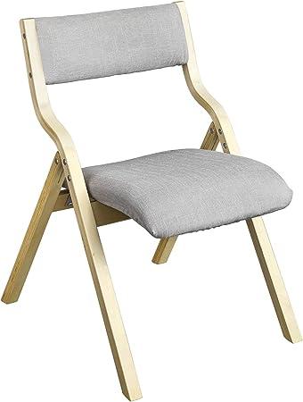 SoBuy® FST40 HG Chaise pliante en bois avec assise rembourrée, Chaise pliable pour Cuisine, Bureau, etc.