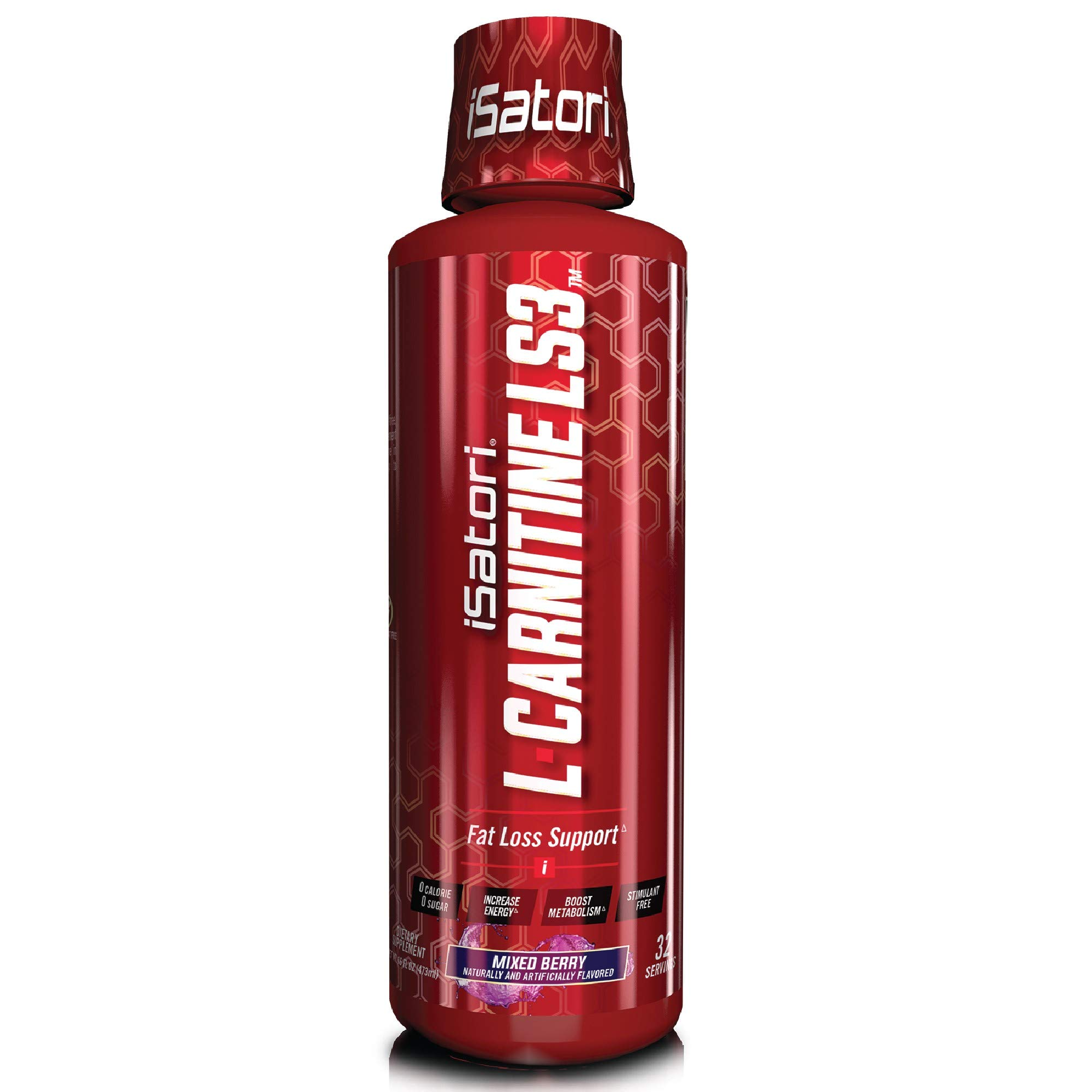 iSatori L-Carnitine LS3 Concentrated Liquid Fat Burner and Metabolism Activator - Fat Burner for Health and Fitness - -Stimulant Free Mixed Berry 1500mg - 32 Servings by iSatori